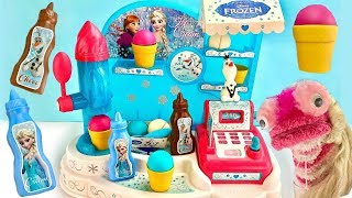 Fizzy and Phoebe Play With Frozen 2 Ice Cream Factory Cash Register