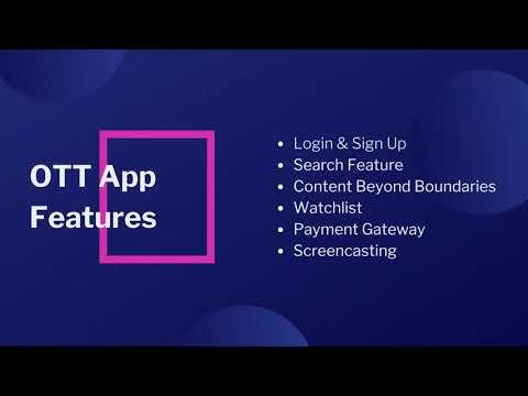 OTT App Development - Consagous Technologies