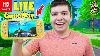 Fortnite On The Nintendo Switch Lite! (First Impressions)