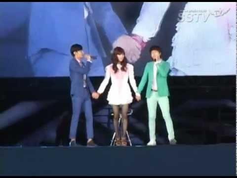 [SSTV] 120818 SMTOWN in Seoul - Changkyu's duet to Lucky