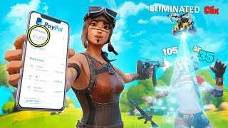 I Played Fortnite Wagers for 1 Day and Made $___