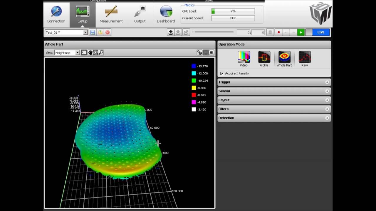 3D-Inspektion einer Haarbürste