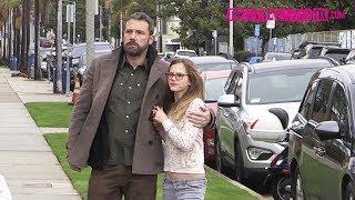 Ben Affleck & Jennifer Garner Arrive To Church Separately With Their Kids For Sunday Worship Service