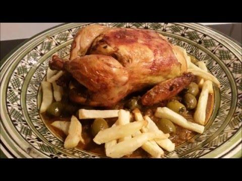 Marokkaanse kip in de oven