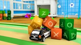 Learn Shapes with Police Truck Car  Cartoon for Children 3D FUN!
