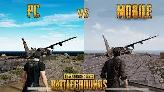 Player Unknown's Battlegrounds PC vs MOBILE - GAMEPLAY (PUBG)