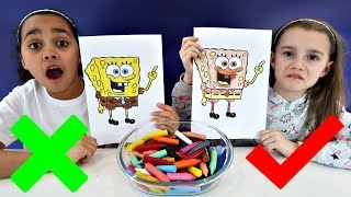 3 MARKER CHALLENGE With Spongebob Squarepants | Toys AndMe