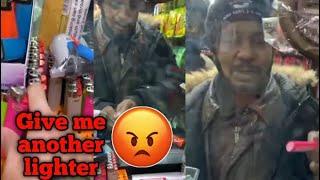 Selling customers in the hood pink lighters 😂
