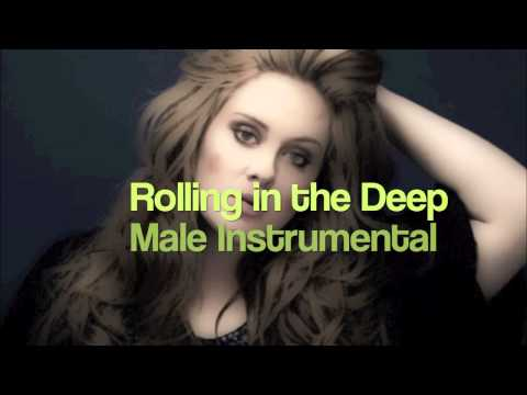 Rolling in the Deep  Male  lowered key Instrumental/Karaoke with backing vocals