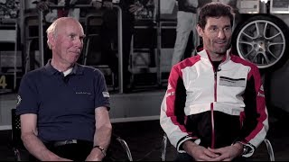 Porsche past & future: Webber meets Le Mans legend Attwood