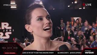 Daisy Ridley Interview on The Last Jedi World Premiere Red Carpet