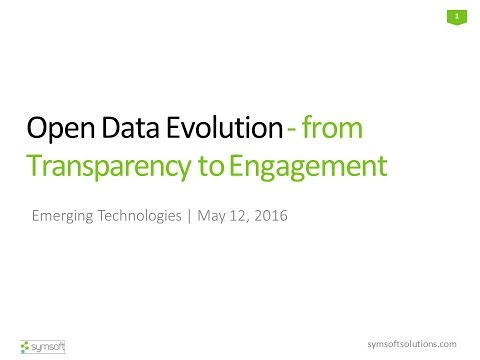 ET2016 Session 10: Open Data Evolution - Symsoft