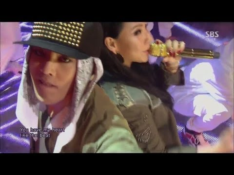 G-DRAGON_0929_SBS Inkigayo_R.O.D(Feat. CL) + 삐딱하게_No.1 of the week