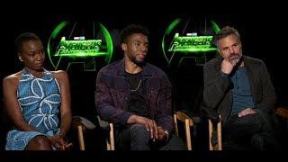 Avengers Infinity Wars Interview with Mark Ruffalo, Chadwick Boseman, Danai Gurira