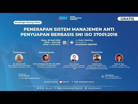 https://youtu.be/vLafRvAZssoPenerapan Sistem Manajemen Anti Penyuapan Berbasis SNI ISO 37001:2016