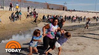 Border Battle: President Donald Trump Defends Use Of Tear Gas On Migrants | TODAY