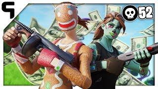 $2,500 52 Kill Duo Squad Fortnite Wager   World Record Kill Attempt Season 9