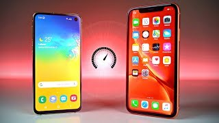 Samsung Galaxy S10E vs iPhone XR - Speed Test!