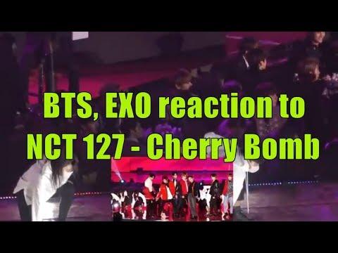 BTS, EXO reaction to NCT 127 - Cherry Bomb @SMA2018