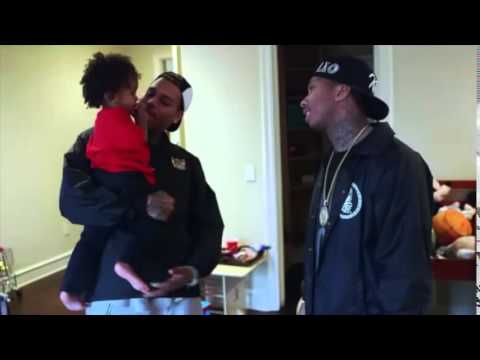 Chris Brown painting King Cairo's Tyga's son room
