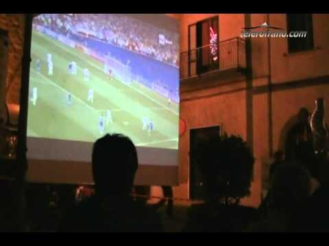 Italia Inghilterra in piazza a Rofrano
