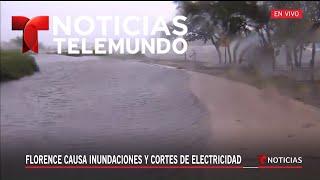 El mar se sale de su cauce en Carolina del Norte | Noticiero | Telemundo