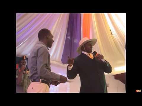 Mando museveni at Pastor Wilson Bugembe's church
