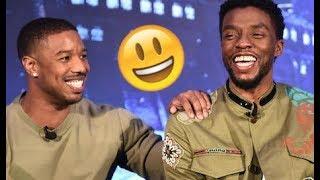 Black Panther Cast 😊😂😊  - Chadwick, Michael B, Lupita, Danai CUTE AND FUNNY MOMENTS 2018