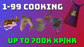 1-99 Cooking Guide [Runescape 3] Up to 700k xp/hr