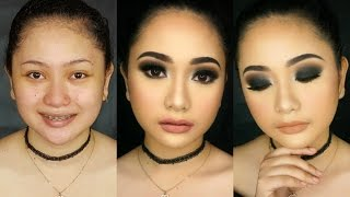 Black/Dark Smokey Eyes feat. Kylie Lip Kit in Exposed and Candy K (Makeup by Soleil)