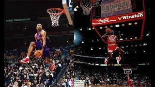 Michael Jordan vs Vince Carter Top 10 Dunks
