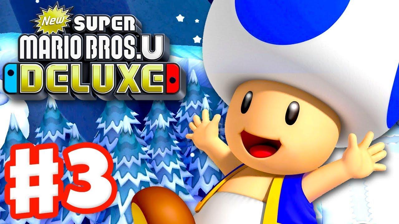 New Super Mario Bros U Deluxe Gameplay Walkthrough Part 3