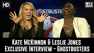 Kate McKinnon & Leslie Jones on Ghostbusters & Twitter Trolls - Exclusive Interview