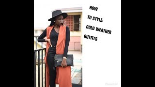 CASUAL COLD WEATHER OUTFITS IDEAS|OLOO MUMBE