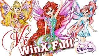 Vẽ nhóm tiên nữ WinX (WinX Club) đầy đủ - Draw Winx club Full