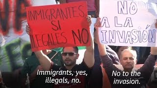 Mexican Nationalists Protest Migrant Caravan Upon It's Arrival in Tijuana! (REACTION)