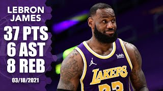 LeBron James goes off for 37 points in Lakers' win vs. Hornets [HIGHLIGHTS] | NBA on ESPN