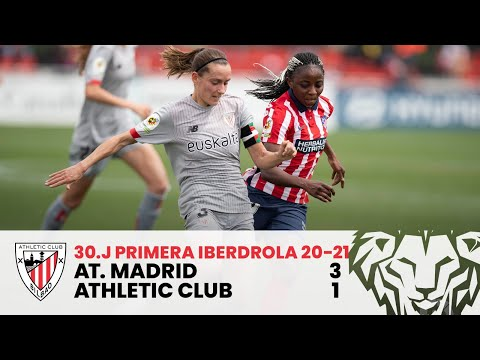 ⚽ RESUMEN I Atlético de Madrid – Athletic Club I J30 Primera Iberdrola 2020-21 I Laburpena