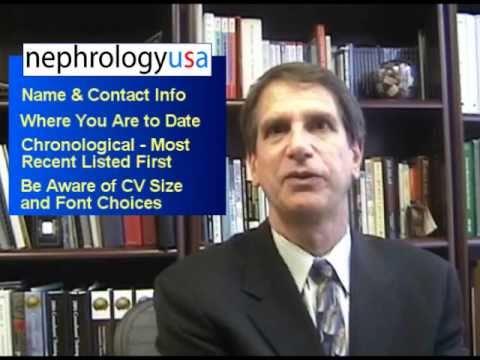Need to Prepare your Nephrology Curriculum Vitae | Nephrology Job Opportunities
