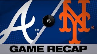 Hamilton knocks go-ahead RBI in the 14th   Braves-Mets Game Highlights 8/23/19