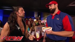 Adam Rose shows Damien Sandow how you Sonic: Raw, July 14, 2014