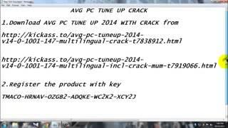 AVG PC Tuneup 2014 Serial Key mp4