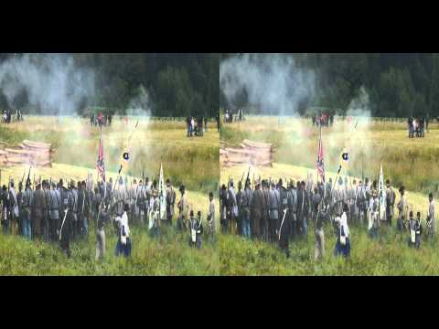 (3D) 2013 Civil War battle re-enactment at Chehalis, WA - Part 2