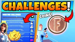 Fortnite OVERTIME CHALLENGES GUIDE! + Coins, Motel, and RV Park Locations! (Battle Royale Update)