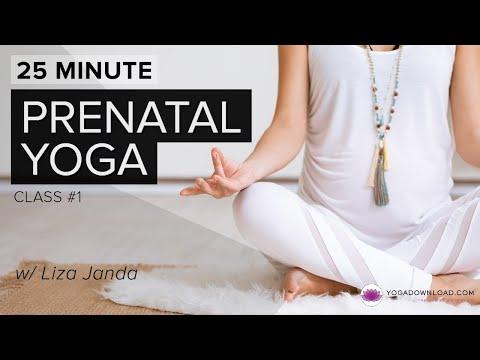 prenatal yoga 1  25 min version  youtube