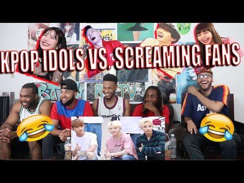 KPOP IDOLS vs FANS SCREAMS 1   BTS EXO BLACKPINK TWICE GOT7 REACTION/REVIEW