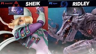Super Smash Bros. Ultimate - Shiek vs Ridley - HD Gameplay