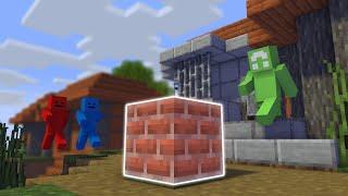 Minecraft Manhunt, But Bricks Drop OP Loot...
