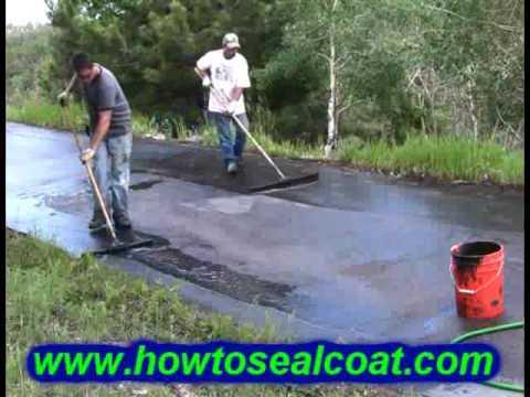How To Seal Coat A Driveway Diy Asphalt Blacktop Pavement