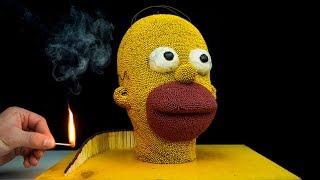Matches Homer Simpson Chain Reaction